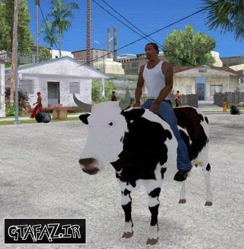 دانلود مود گاو سواری برای (GTA 5 (San Andreas